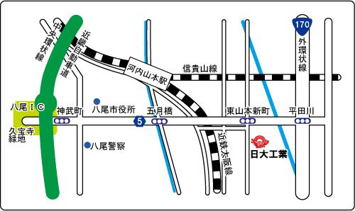 日大工業株式会社 地図